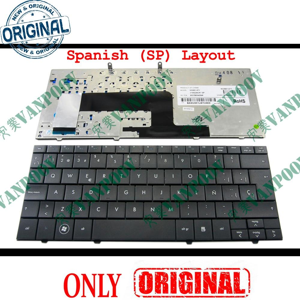 Novo teclado Portátil para HP Compaq Mini110 Mini 110 Mini 110 1000-102 Presario CQ10-100 Preto Espanhol SP/ ES Espanol V100226CK1