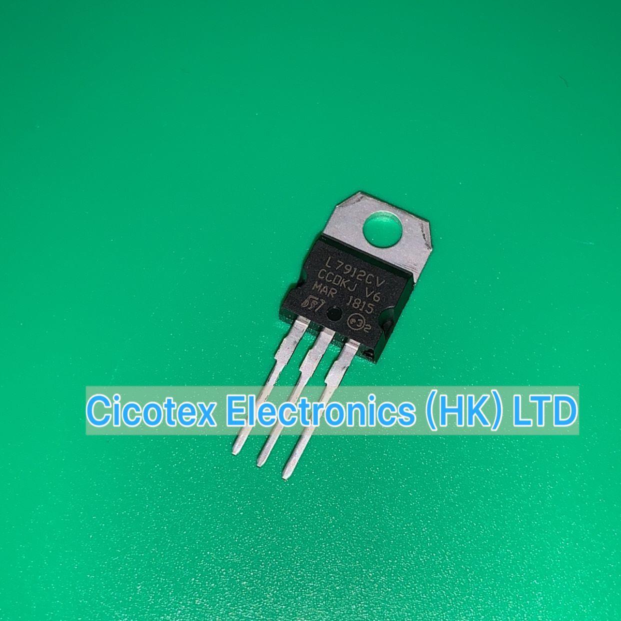 10 unids/lote L7912CV IC regulador lineal-12 V 1.5A TO220AB reguladores de voltaje negativo