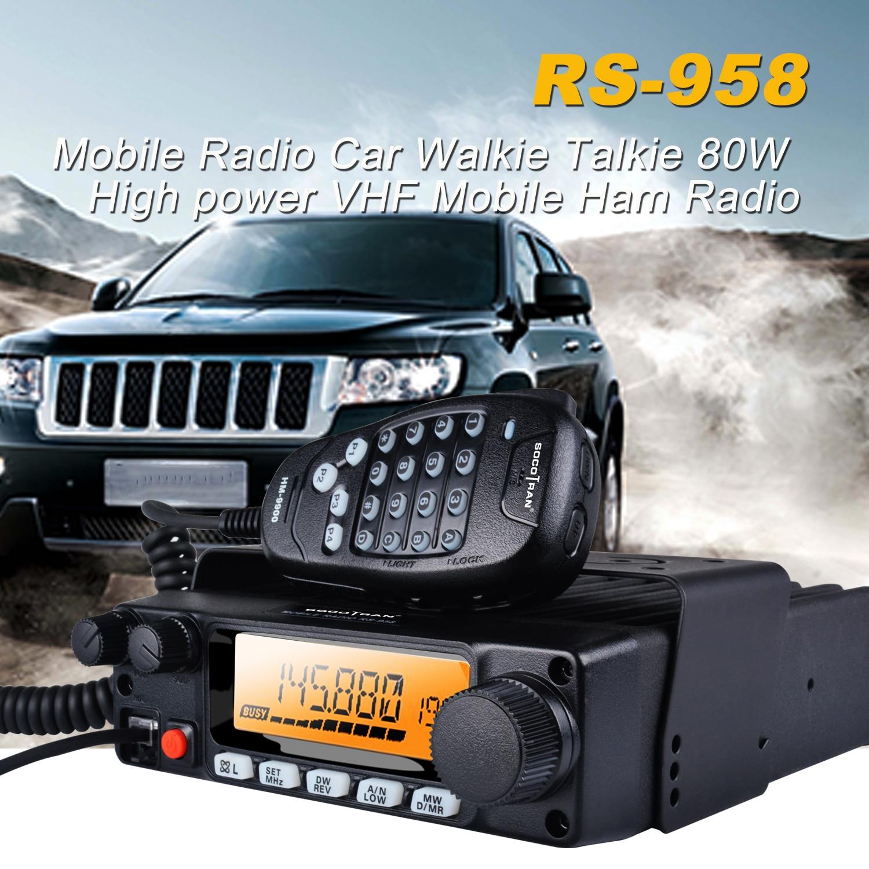 Автомобильная рация, мощностью 80 Вт, с ЖК-дисплеем, 200 каналов