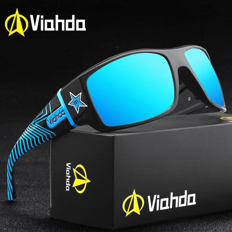 VIAHDA gafas de sol polarizadas a la moda de lujo para hombres de marca de diseñador gafas de sol de conducción al aire libre Vintage gafas de hombre gafas UV400 Oculos