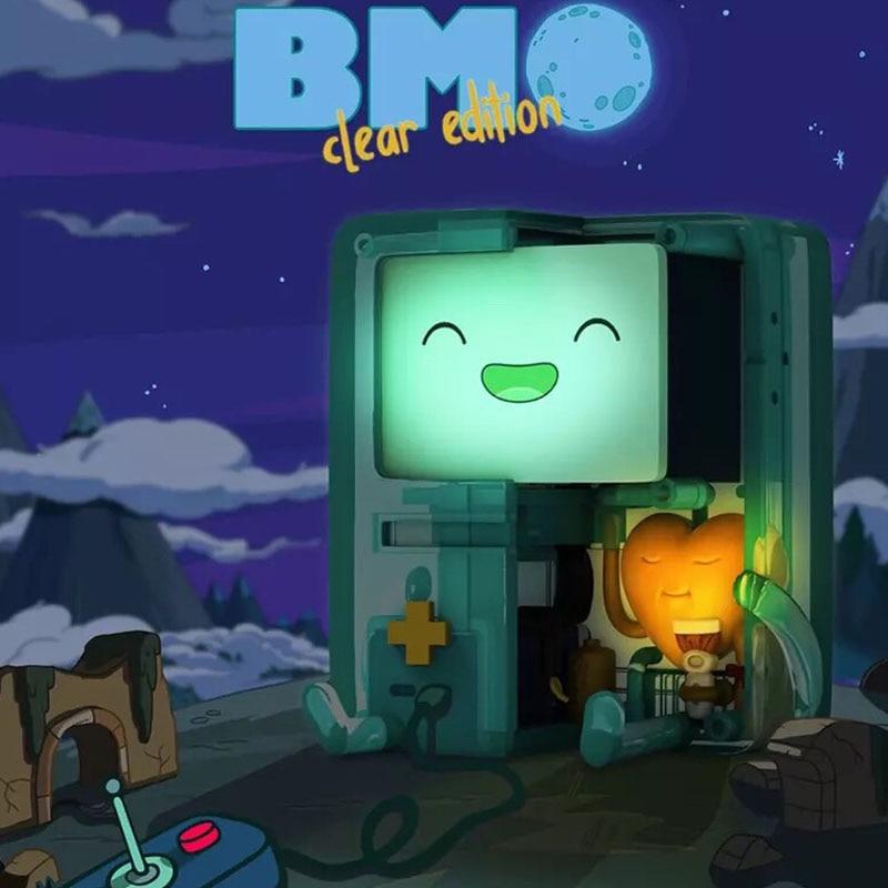 أنيمي البلاستيكية الرقم اللعب مغامرة الطفل BMO نموذج عشوائي تمثال طقم المرآب هدية
