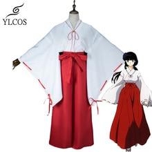 Anime Inuyasha Higurashi Kagome Cosplay Costume Halloween fête Kimono pour femmes filles Costume