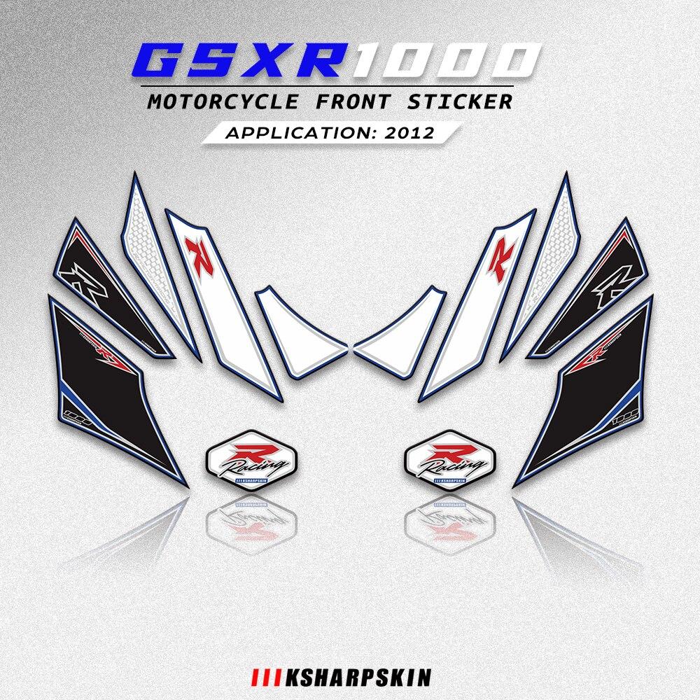 ملحقات الدراجات النارية لوحة رقم المحرك الانسيابي الأمامي ملصقات ثلاثية الأبعاد واقي جل لسوزوكي GSXR1000 2012 gsxr 1000