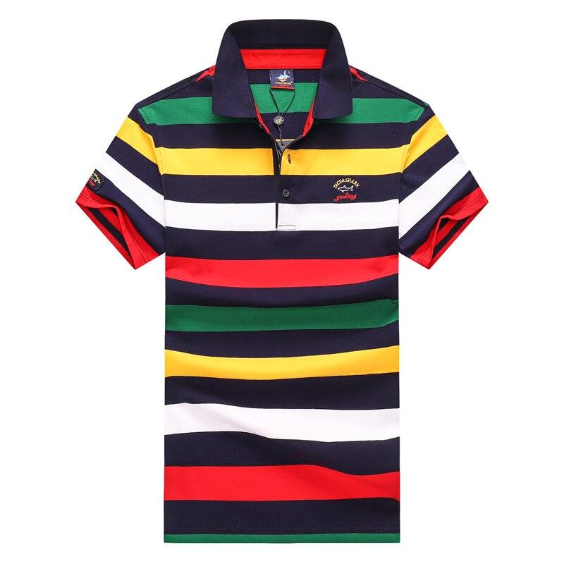 Marca Tace & Shark camiseta para hombre 2020 verano moda rayas camisetas para hombre 96% algodón transpirable negocios camisetas para hombres