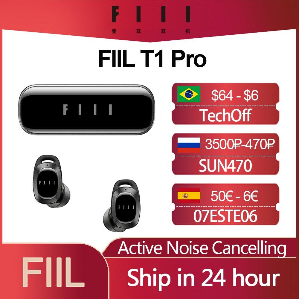 fiil t1x tws true wireless earbuds in ear bluetooth earbuds Original FIIL T1 Pro T1 Lite TWS True Wireless Earbuds Active Noice Cancelling Headset Bluetooth 5.2 Earphone IPX5 Waterproof
