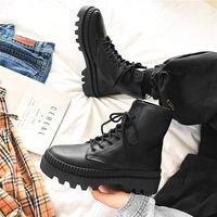 2020 новые зимние черные ботинки средней высоты из толстой ткани мужские осенние ботинки в британском стиле высокие повседневные мужские бот...