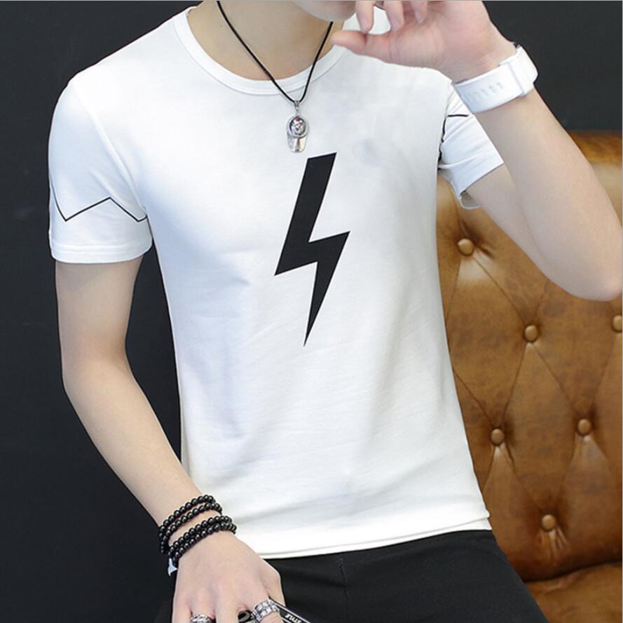 2019 New O-Neck Men T Shirt Mens Fashion Short Sleeve Tshirt Fitness Casual Male T-shirt Brand Clothing Tee Tops 5XL