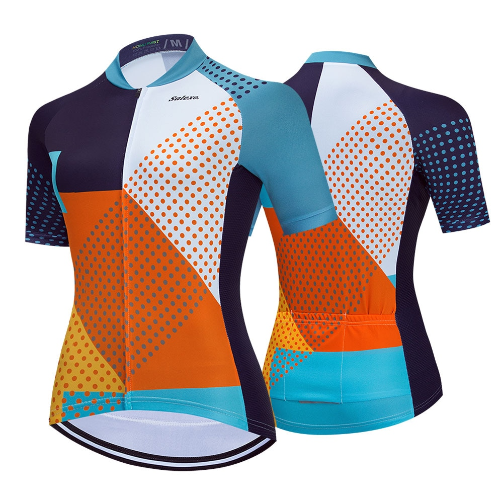 Camiseta de Ciclismo de equipo profesional para mujer, Maillot transpirable, ropa de...