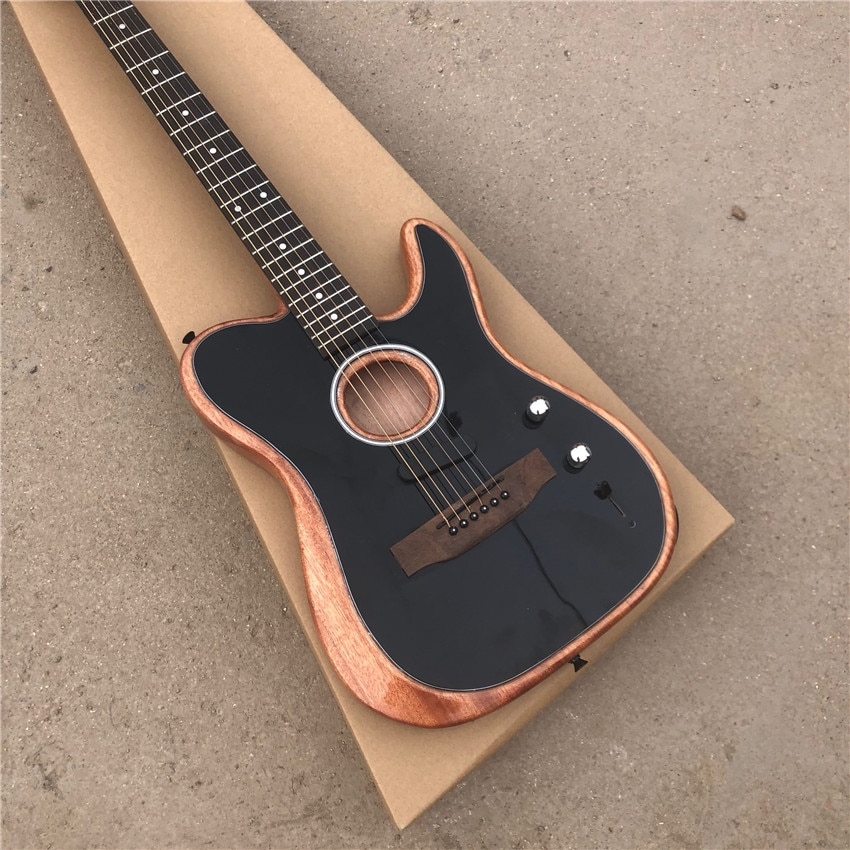 Stock log electric guitar, real photos, wholesale and retail, all colors, can be modified and customized as required
