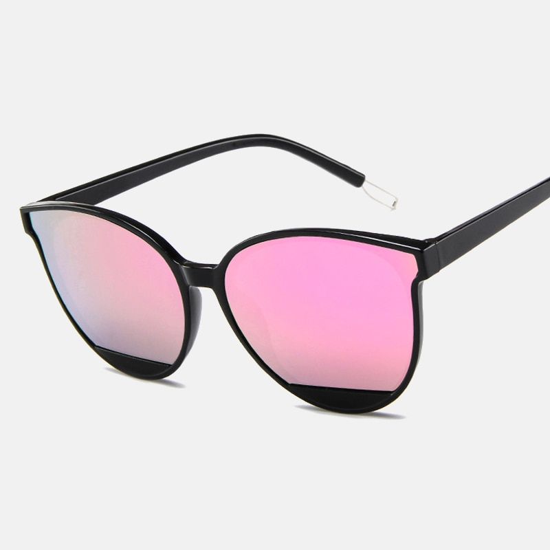 ZUEE New Retro Sexy Mirror Sunglasses Women Brand Designer Luxury Vintage Cat Eye Black Sun Glasses