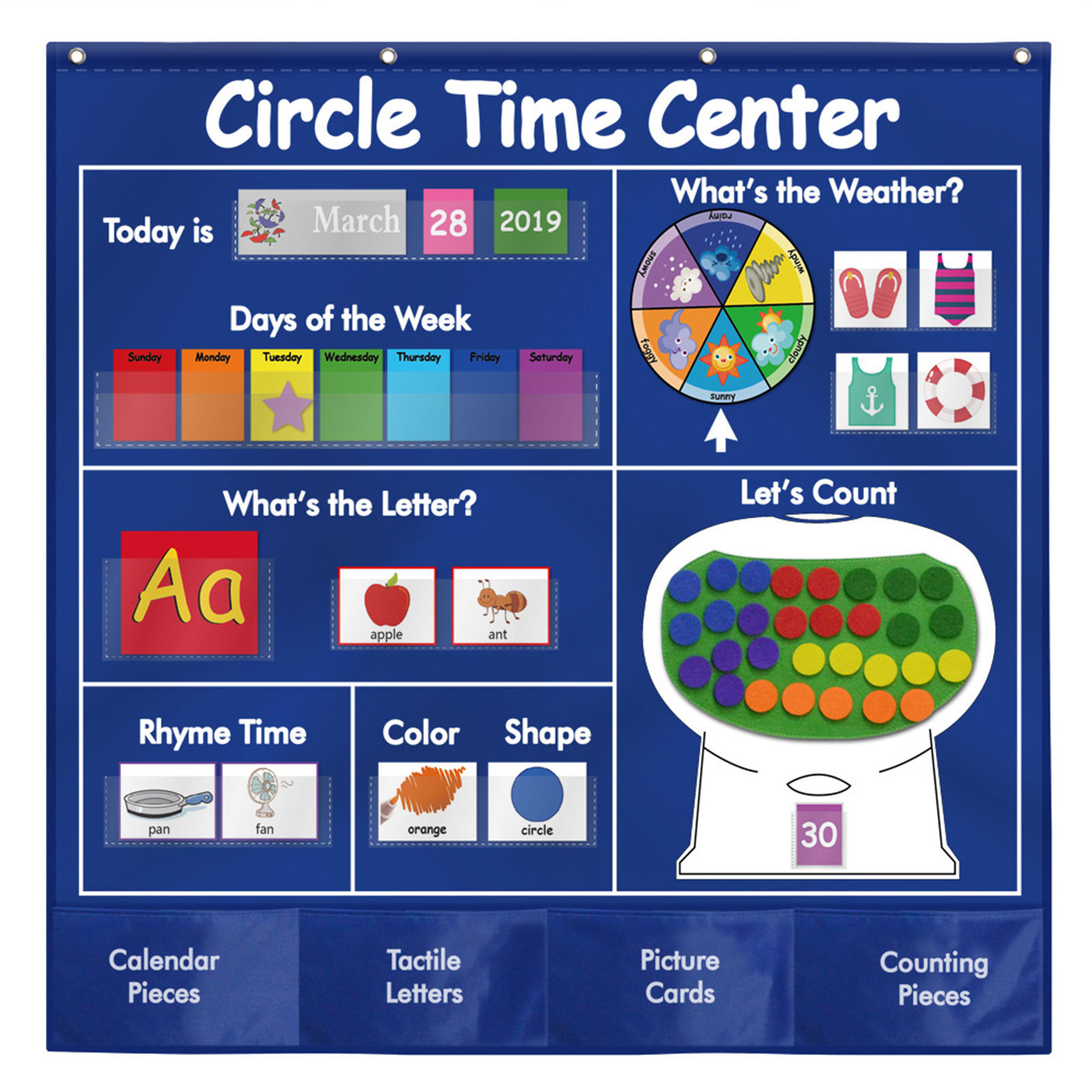 Calendar Weather Card Letter Words Math Card Cycle Time Learning Center Card Bag Preschool Children Learning Atlas