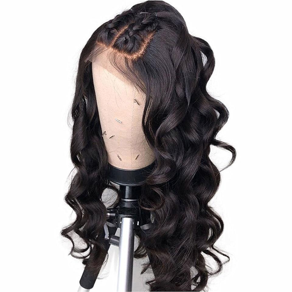 Frontal de encaje pelucas de cabello humano 150 de densidad Frontal de encaje pelucas Preplucked cabello Natural nudos blanqueados 13x6 parte profunda peluca Remy