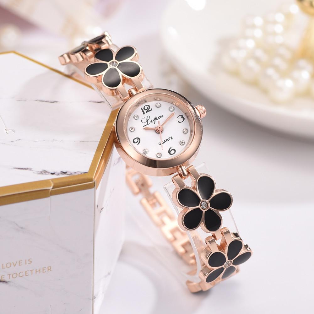 Casual Fashion Bracelet Watch Flower Strap Wristwatch Dress Elegance Quartz Watch For Women Gift Watch enlarge