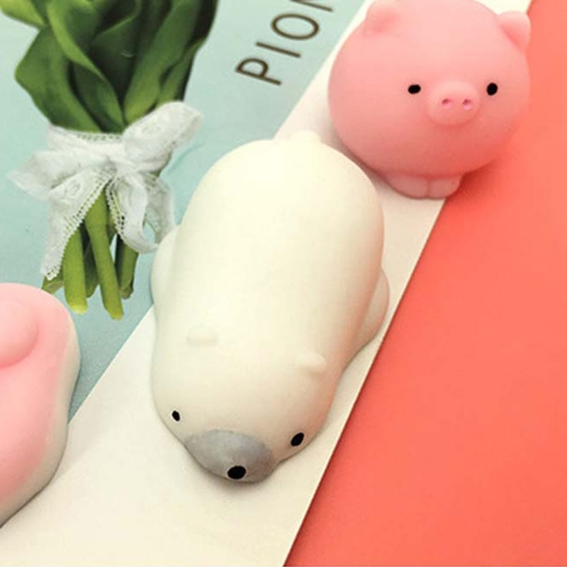 50pcs Mini Cute Animals Squishy Toys Anti Stress Relief Squeeze Toy Squishi Slow Rising Adults Children Kids Funny Gifts enlarge