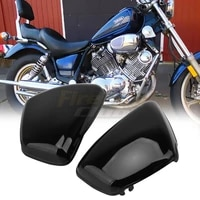 motorcycle black battery fairing cover right left side protector for yamaha xv700 750 1000 1100 virago 1984 up moto parts