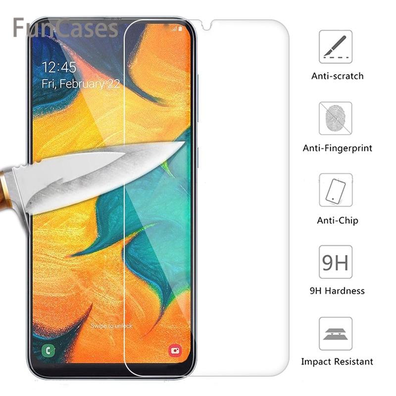 Закаленное Стекло для samsung Galaxy A30 A50 Экран защитная пленка 9H Защитная пленка для телефона на 30 50 A70 A40 A60 A90 M10 M20 M30 A10