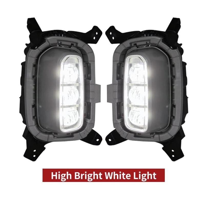 مرحل إشارة الانعطاف الأصفر للسيارة ، مصباح تشغيل نهاري LED ، مصباح ضباب ، ملحقات السيارة ، kia seltos kx3 2020 2021 ، 12 فولت