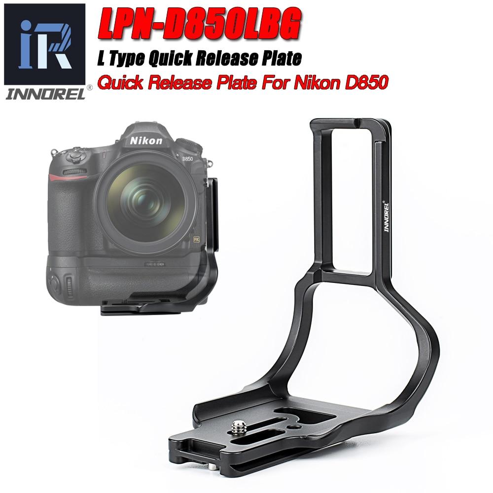 "LPN-D850LBG cámara L soporte de liberación rápida placa L 1/4 ""tornillo Arca Swiss Vertical de vídeo para Nikon D850 DSLR cabeza de trípode"