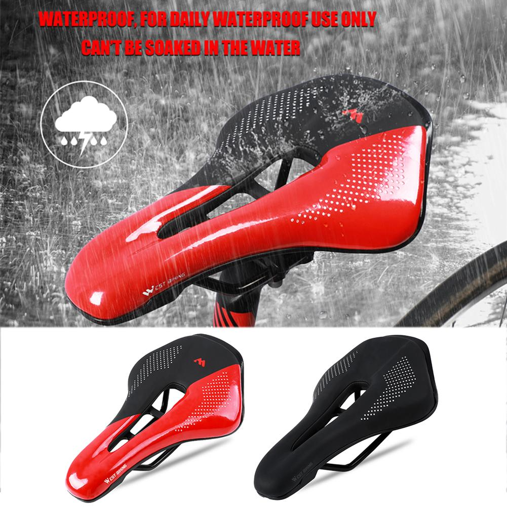 Sillín de Bicicleta, asiento de Carretera, rieles de acero, Bicicleta de montaña, sillín de Bicicleta, Bicicleta, Carretera de cuero suave de PU, sillín de Bicicleta de montaña