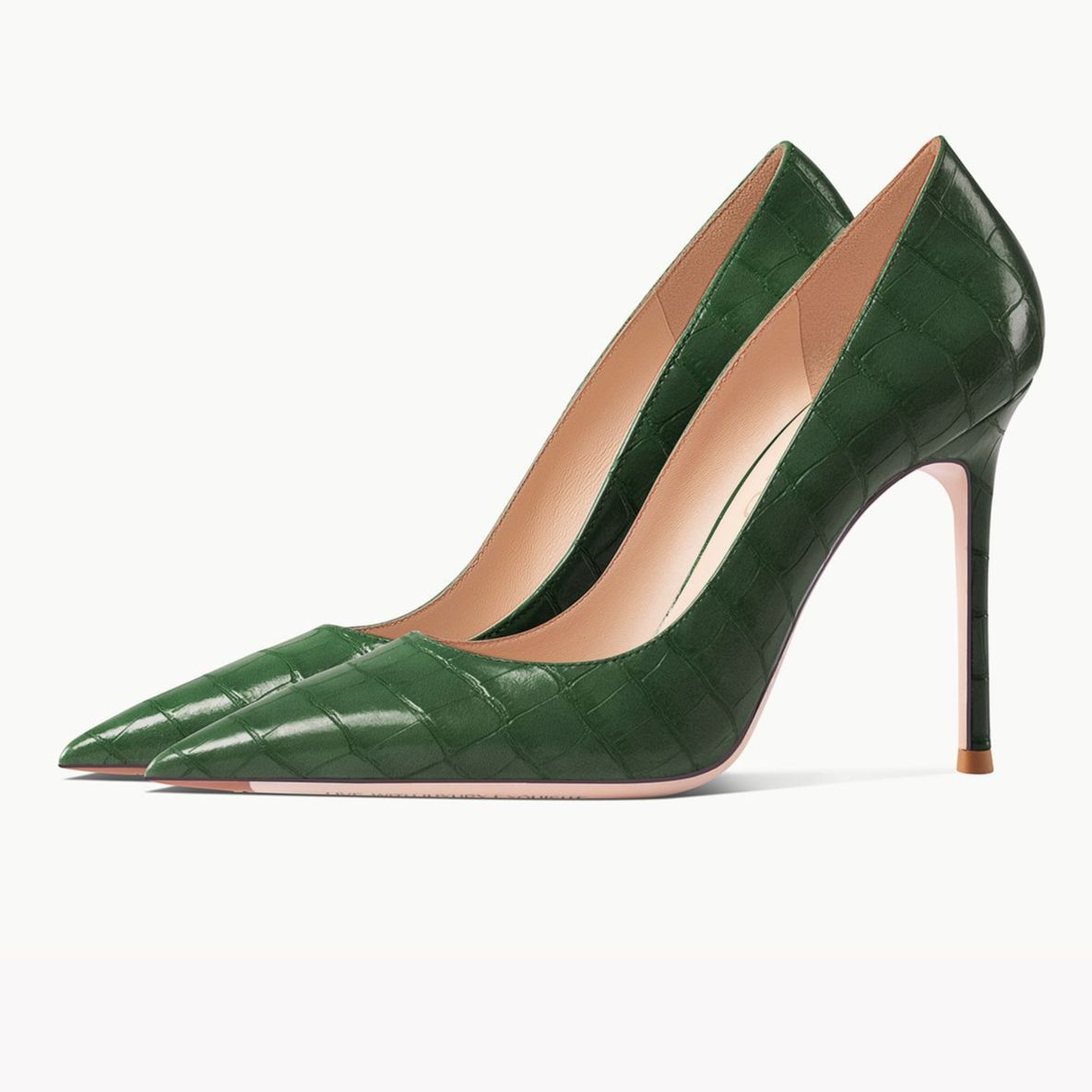 Real Leather Crocodile Pattern 2021 New For Women Pumps Brand Black High Heels Pointed Toe Sexy Stil