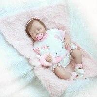 56cm 22inch fashion bebe reborn doll baby girl sleeping silicone reborn baby dolls toy