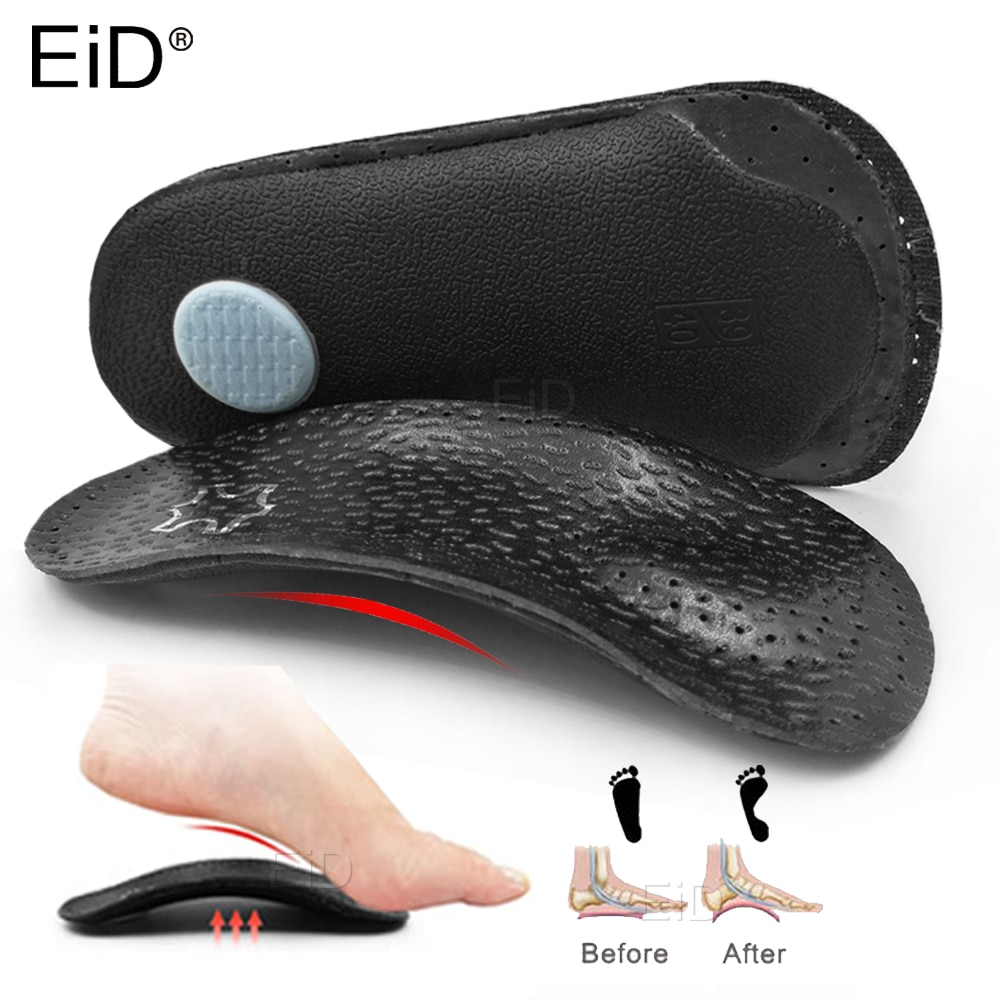 3angni orthopedic insoles flat feet arch support microfiber leather orthotic insoles for shoes inserts cushion for men women EiD 3/4 Leather orthopedic shoes insole for flat feet arch support  orthotic shoes sole Insoles for feet men and women foot care
