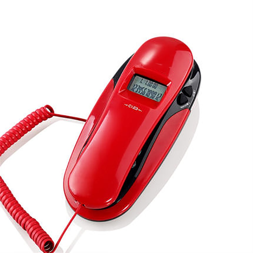 Corded Trimline Phone Wall Mountable Landline Telephone with Caller ID, Redail, Calling & Outgoing Check, Date, Clock Display