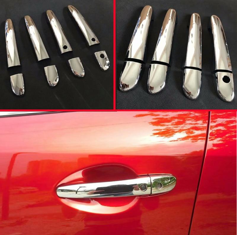 For Mazda CX-5 CX5 CX-8 CX8 CX-9 CX9 2017 2018 2019 Car Accessories  ABS Chrome Door Handle Cover Trim