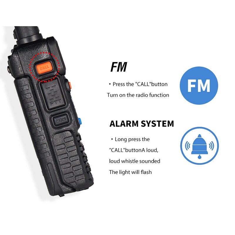 10 Units Real 8W Baofeng UV 5R Walkie Talkie UV5R Portable Dual Band Ham CB Radio uv-5r FM Transceiver Two Way Radio Transmitter enlarge