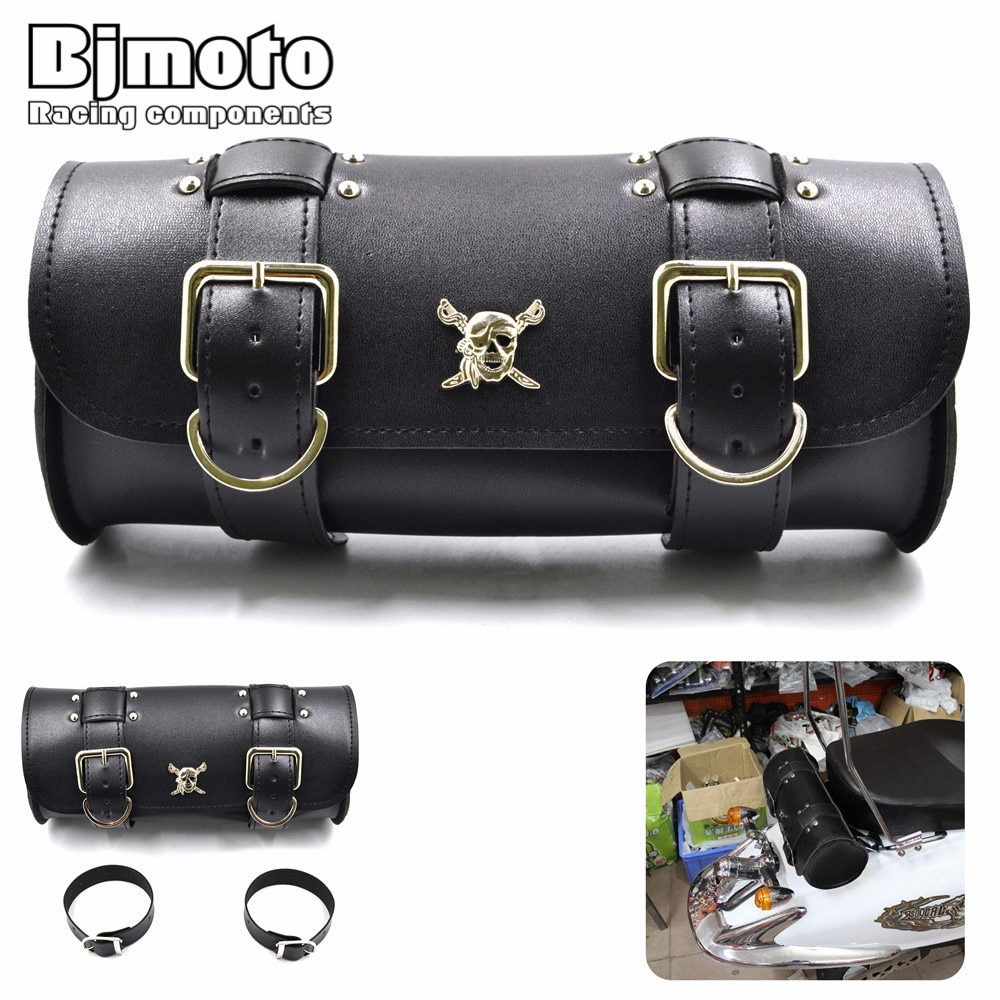 Motor PU Leather Saddlebag Luggage Bag Saddle Bags Tail Tool Bag Storage For Harley Cruiser Chopper Sportster Honda Kawasaki