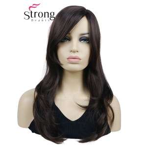 StrongBeauty Long Natural Wave Heat Resistant Brown Full Synthetic Wig Women Wigs