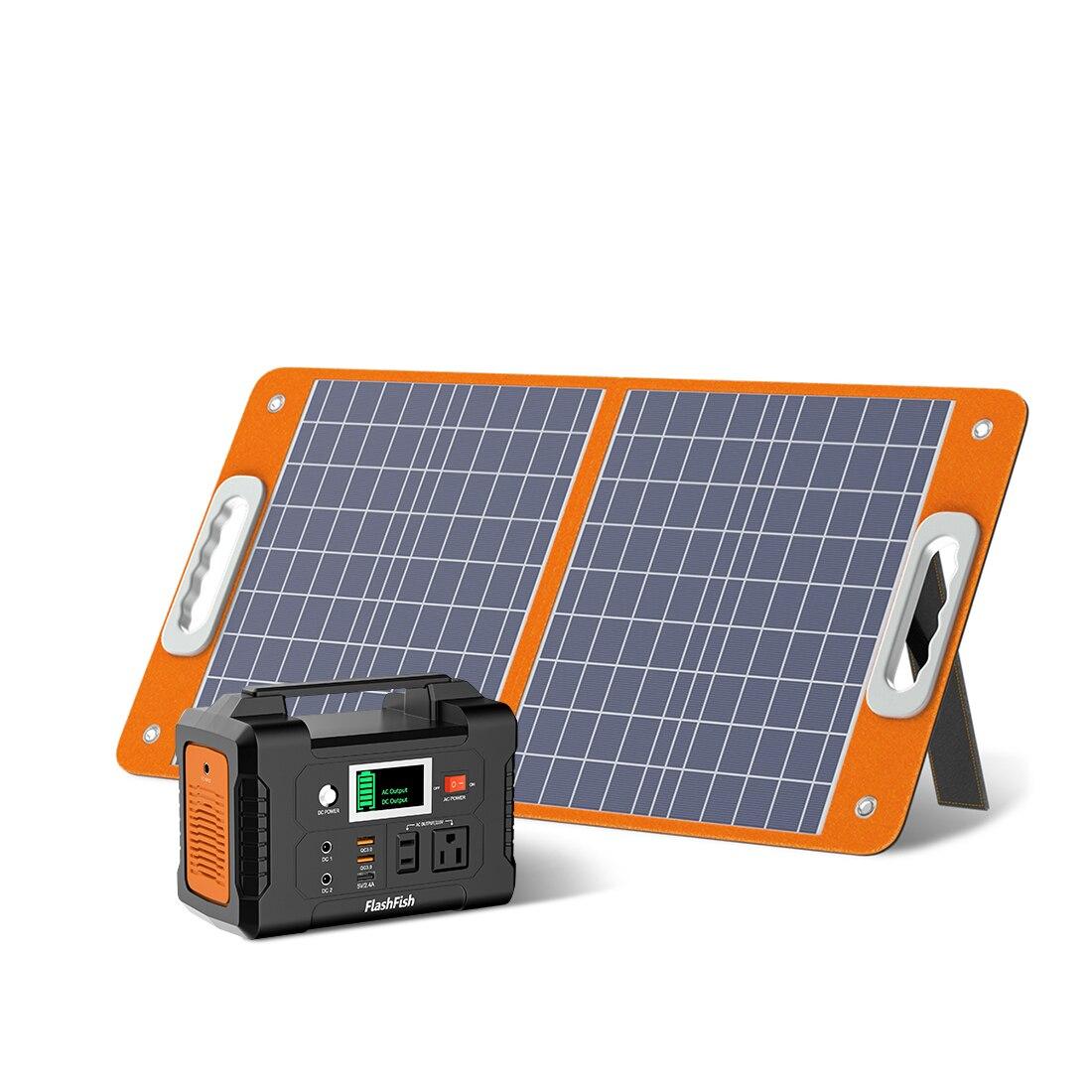 نظام الطاقة الشمسية للكمبيوتر تلفزيون الكمبيوتر المحمول في الهواء الطلق مع 60 واط لوحة طاقة شمسية 200 واط مولد الطاقة الشمسية 110 فولت 220 فولت ال...