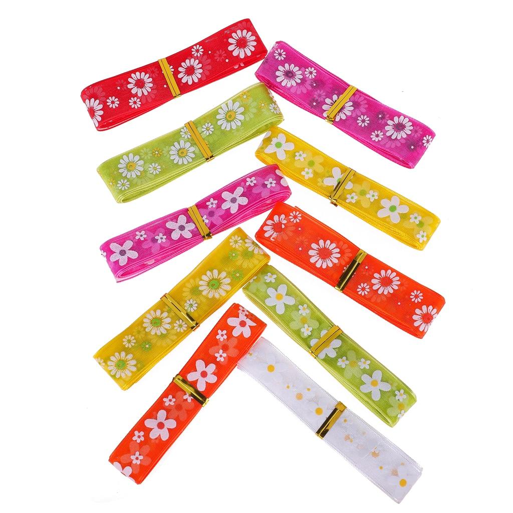 Rubans de printemps en Organza imprimée 15mm/20mm 10m/rouleau   Emballage décoratif de boîte cadeau, bricolage, pour fabrication de bijoux de tête, réception de mariage