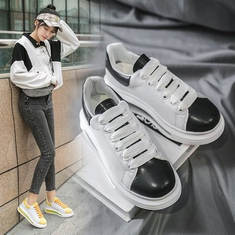 White Sneakers for Boys Girls 2021 Autumn Children's Leather Casual Shoes Boys Basketball Sneakers B