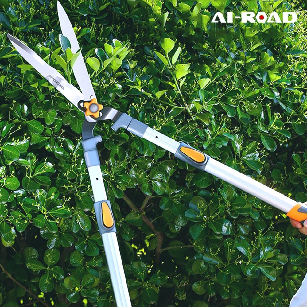 AliExpress - AI-ROAD Garden Lawn Pruning Shear Hedge Scissor Long Handle Fence Cutter Tree Branch Trim jardin Tools Household Hand Tools