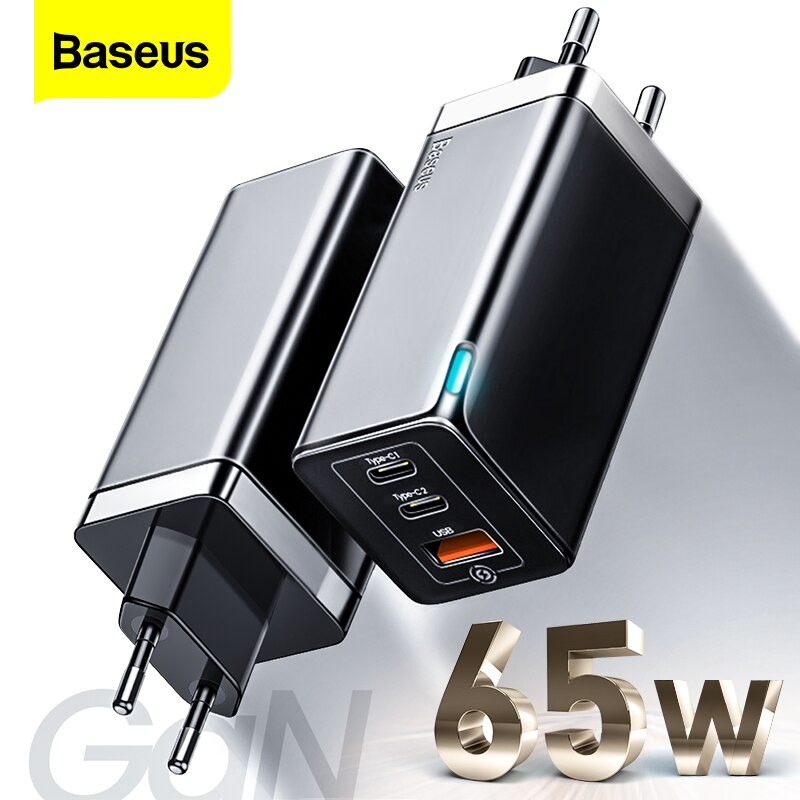Baseus GAN 65 Вт USB C зарядное устройство Quick Charge 4,0 3,0 QC4.0 QC PD3.0 PD Type C быстрое USB зарядное устройство для Macbook Pro iPad iPhone Samsung