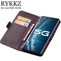 case for vivo nex 3s luxury wallet genuine leather case stand flip card for vivo nex 3 3s 5g hold phone book cover bags