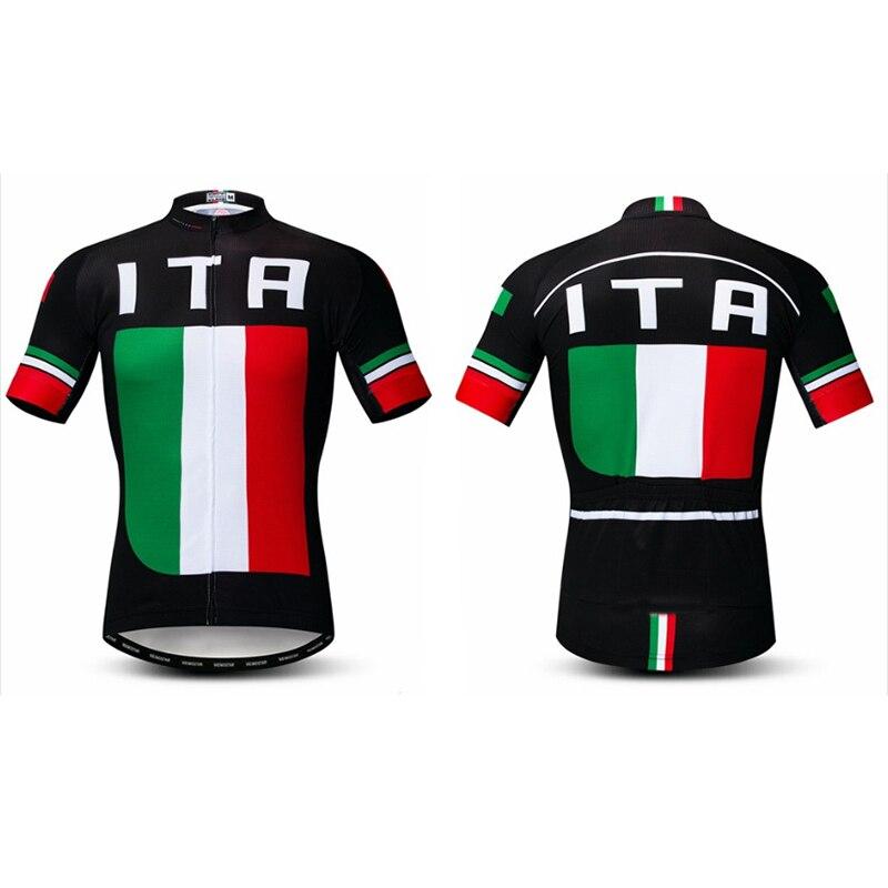 2019 venda da promoção de alta qualidade esporte ciclismo jersey maillot ciclismo desgaste ventilar material de poliéster para trás bolsos Italia tinta