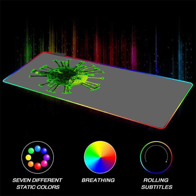 Mairuige العاب الكرة الصغيرة RGB LED كبير لاعب ماوس الوسادة USB الإضاءة الخلفية لوحة مفاتيح الكمبيوتر الجدول الوسادة CS الذهاب Xxl تعزيز