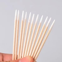200pcs disposable wooden cotton stick swabs micro brushes eyelash extension glue removing tools for beauty makeup and tattoo
