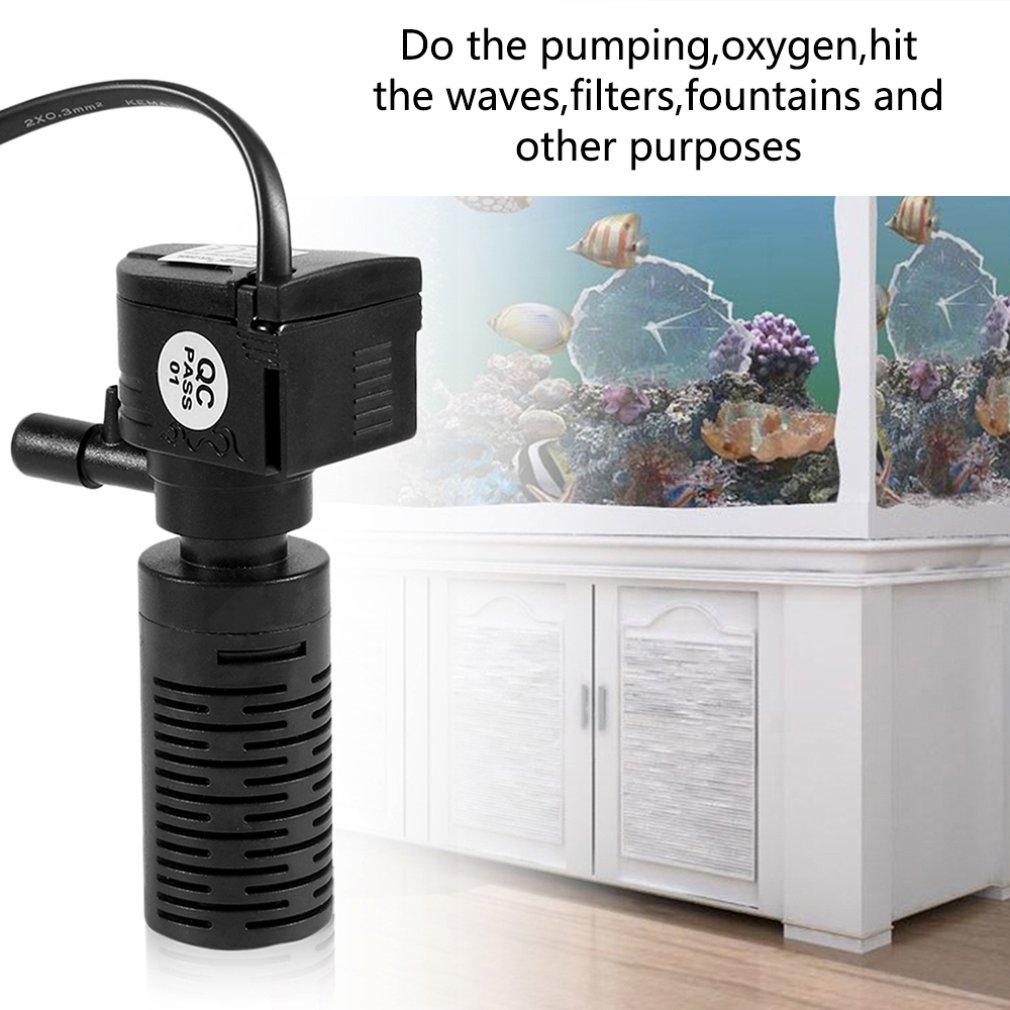 3/5W 3 en 1 filtro interno acuario portátil bomba de agua multifuncional Filtro de tanque de peces bomba sumergible 220-240V