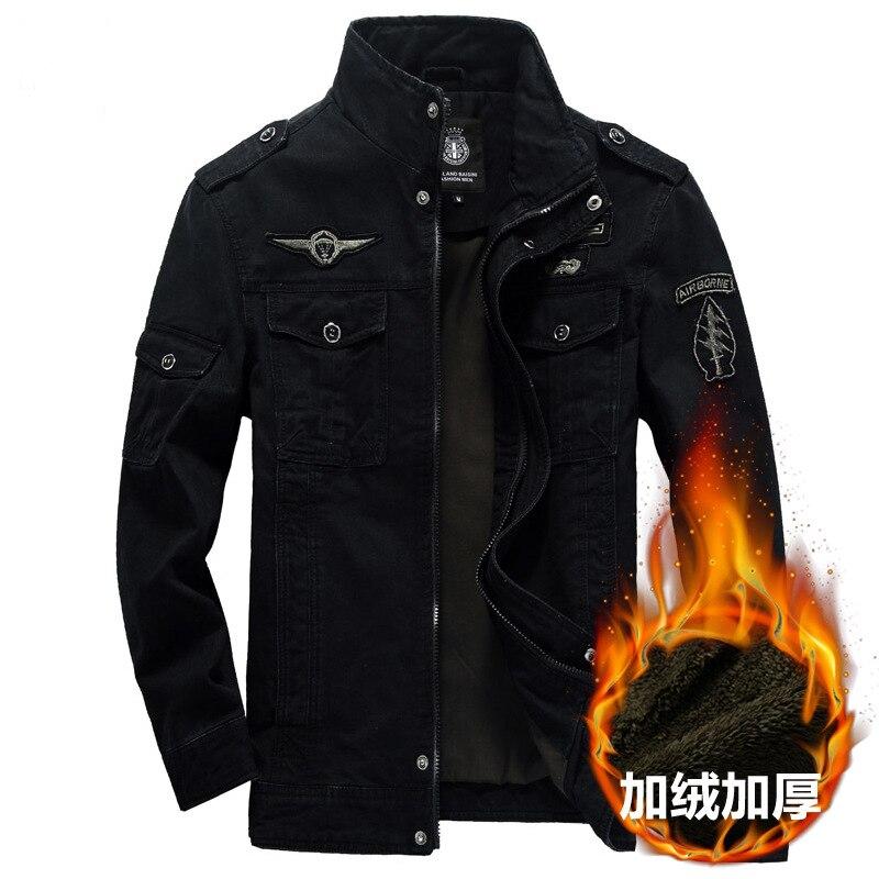Зимняя куртка-бомбер мужская качественная Толстая теплая куртка-пилот Мужская ветровка в стиле милитари мужские куртки и пальто Женская