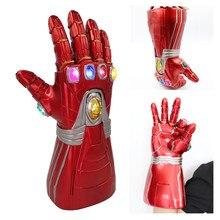 Nouveau Avengers Endgame Marvel super-héros Tony Stark Iron Man Cosplay bras gant infini gantelet main droite Thanos gants LED jouet