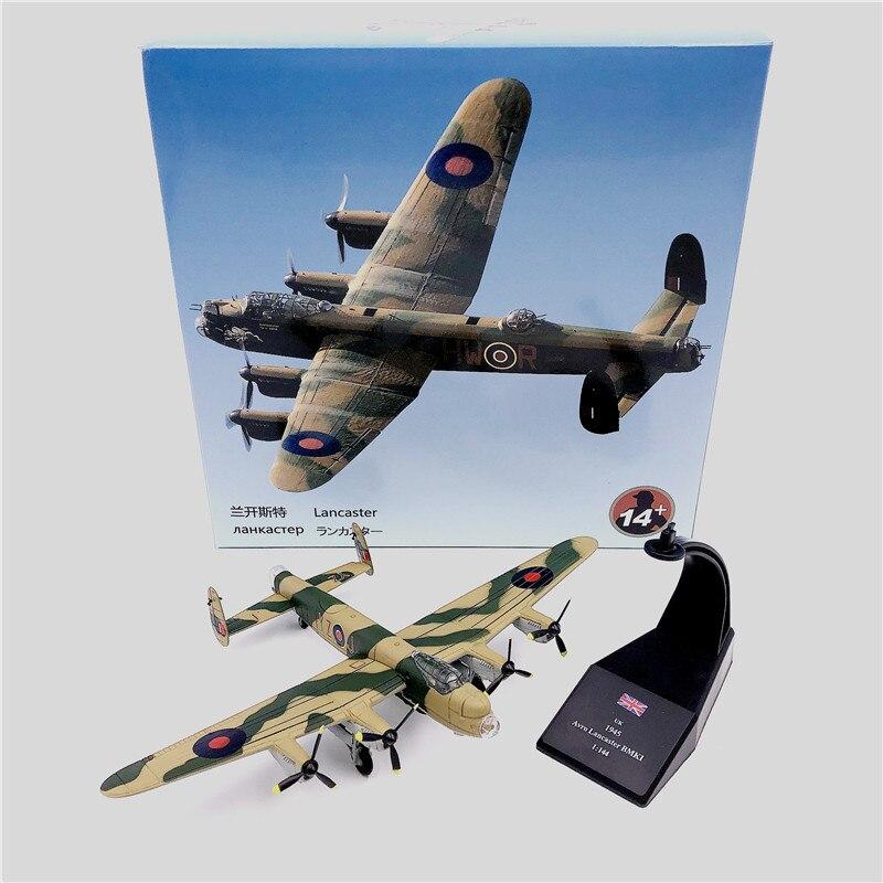 Lancaster dam buster 617 bomber squadron aviones fighter modelo 1/144 con tapa dura de cartucho