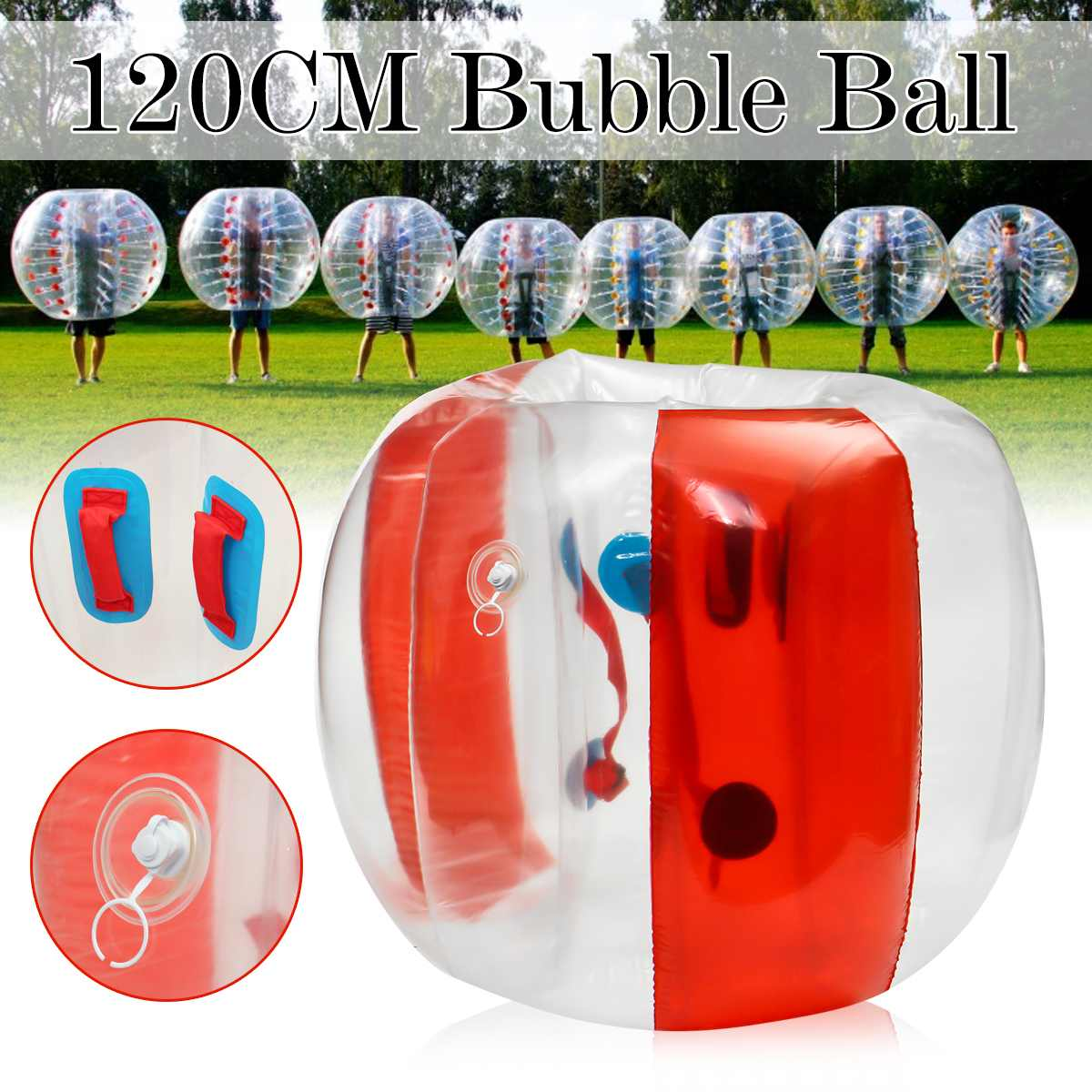 Burbuja de fútbol Zorb Ball 120CM pelota de choque cuerpo inflable Zorb burbuja balón de fútbol niños juguete al aire libre regalo de Navidad