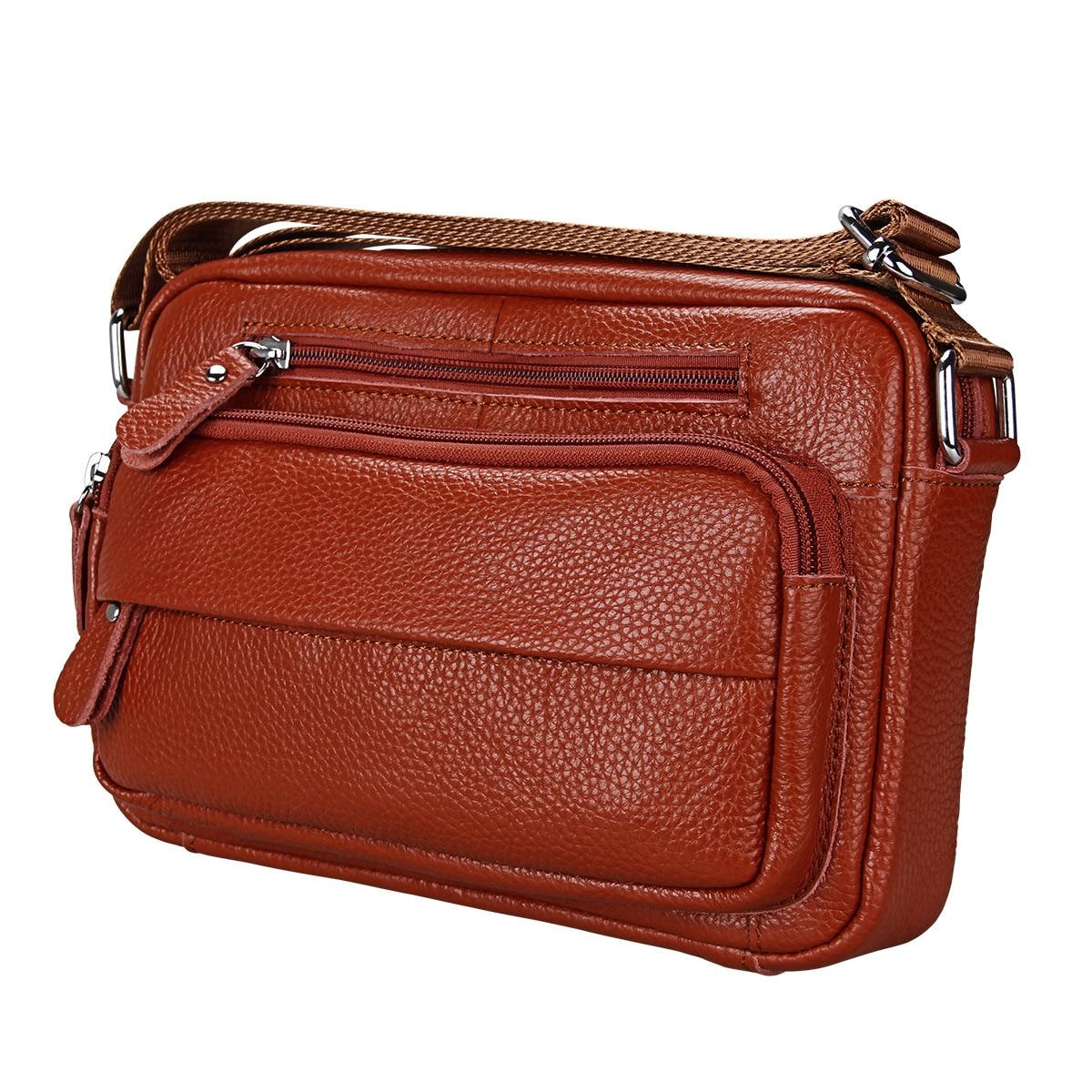 Explosive Leather Men's Top Layer Cowhide Shoulder Bag Men's Korean Outdoor Travel Messenger Bag