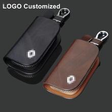 Universal Car Key Case Cover Bag Auto Key Holder Men Key Cover Wallet Logo Customized Automotive Key