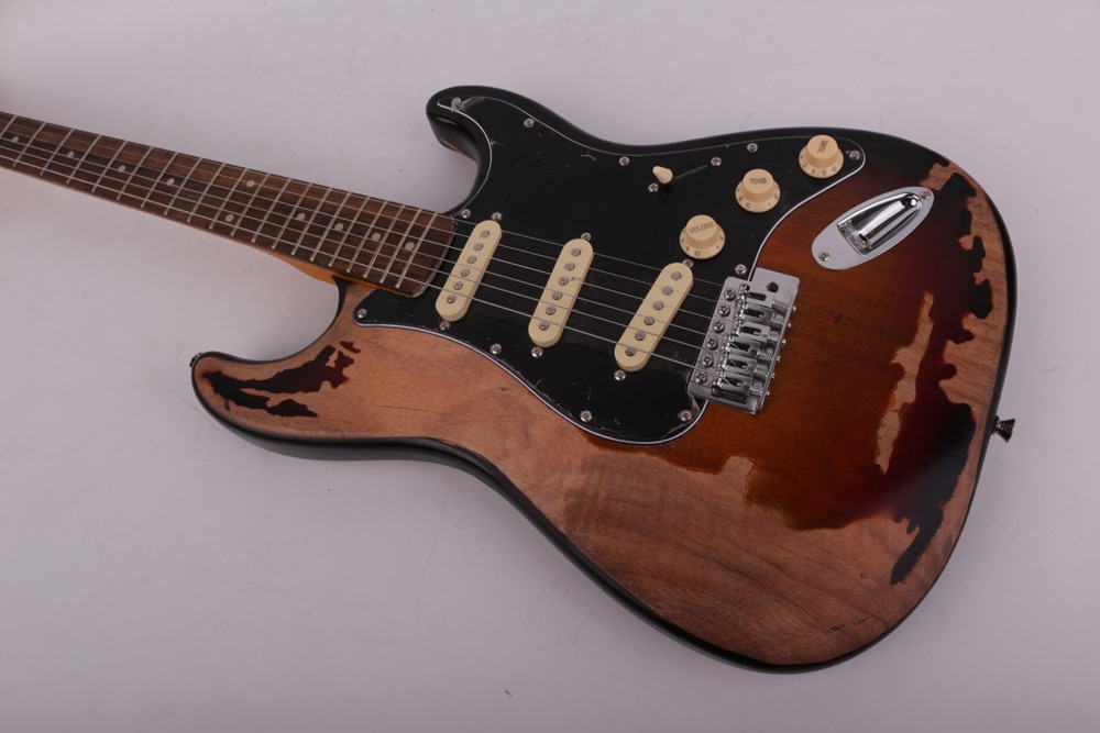 High quality heavy Relic vintage style electric guitar free shipping enlarge