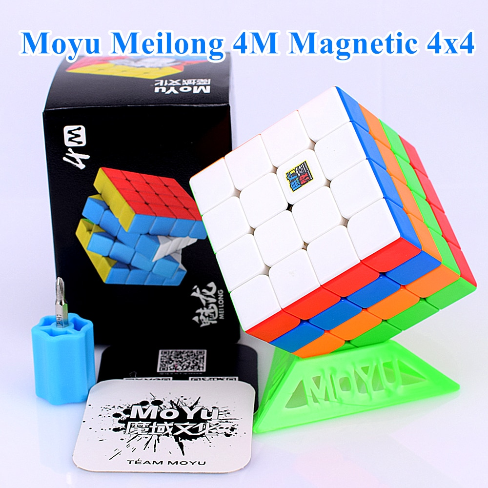 Cubo magnético Moyu meilong M 4x4x4, 4x4 cubo mágico, cubo magnético de velocidad meilong 4 M, cubo magico 4x4 2x2 3x3x3x3, cubo 5x5x5