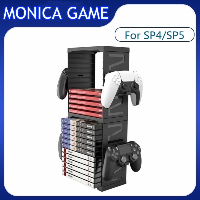 ل PS5 PS4 متعددة الوظائف تخزين حامل تحكم لعبة القرص محطة للتبديل Xbox سلسلة X S غمبد بطاقة رف الملحقات